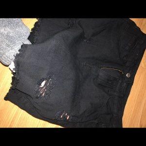 SHEIN Skirts - Black Denim Skirt